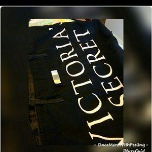 VS. Black Cotton twill large black tote